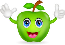 Green apple cartoon Royalty Free Stock Photography