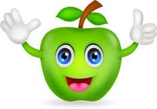 Green apple cartoon Royalty Free Stock Photography