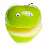 Green Apple Character Stock Image