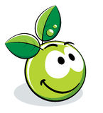 Green apple character. A green apple character isolated on white Royalty Free Stock Images