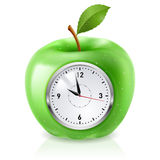 Green apple clock Stock Photography