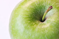 Green apple close up isolated on white background Royalty Free Stock Photo