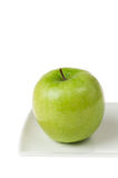 Green Apple Closeup in High Key Royalty Free Stock Photography