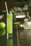 Green apple coctail Stock Images
