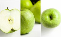 Green apple Collage on white background. Stock Photography