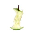 Green apple core. Over white (see similar photos in my portfolio Royalty Free Stock Photos