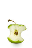 Green apple core Stock Photos