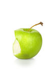 Green apple core. Over white - with clipping path Royalty Free Stock Image