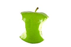 Green apple core Stock Image