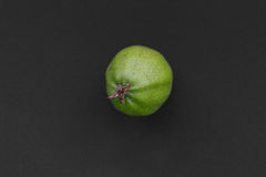Green apple. On the dark background as Cut Stock Photography