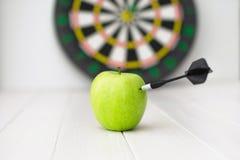 Green apple dart Royalty Free Stock Photography