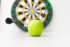 Green apple dart Royalty Free Stock Images