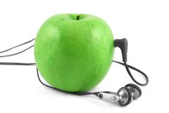 Green apple device Royalty Free Stock Photography