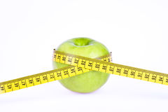 Green apple. Diet concept royalty free stock photos