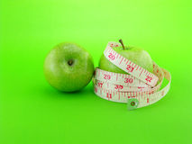 Green apple for diet Royalty Free Stock Photos