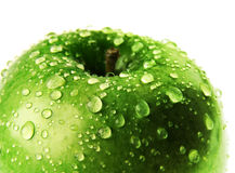 Green apple with drop Royalty Free Stock Photo