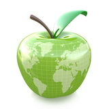 Green apple earth design. In the design of information related to eco Stock Photo