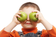 Green apple eyes Royalty Free Stock Photo