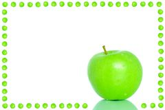 Green apple frame Royalty Free Stock Images