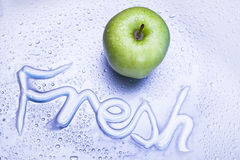 Green apple and freshness concept Royalty Free Stock Photo