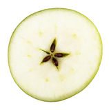 Green apple fruit slice Royalty Free Stock Images