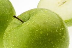 Green apple. fruit for vitamins. Royalty Free Stock Image
