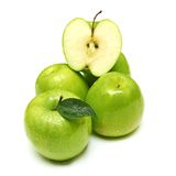 Green apple fruits Stock Images