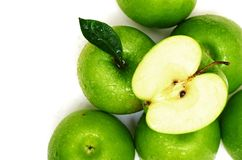 Green apple fruits Royalty Free Stock Images