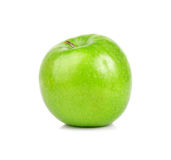 Green apple fruits. Isolated on white background Royalty Free Stock Photos