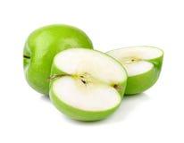 Green apple fruits. Isolated on white background Stock Image