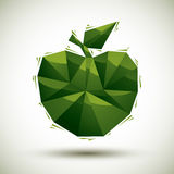 Green apple geometric icon made in 3d modern style, best for use Royalty Free Stock Image