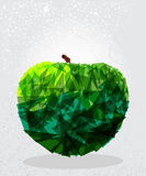 Green apple geometric shape. Royalty Free Stock Photo