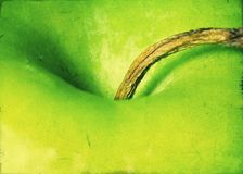 Green apple - Grunge textured background Royalty Free Stock Photography