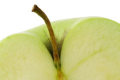 Green apple half Royalty Free Stock Photo