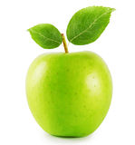 Green apple with handle Royalty Free Stock Images