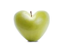 Green apple heart Stock Photos