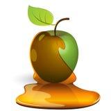 Green apple in honey Stock Photo