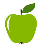 Green apple. Icon.Vector illustration Royalty Free Stock Photography