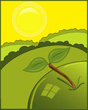 Green apple illustration Royalty Free Stock Images