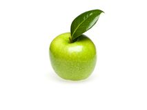 Green apple isolate Royalty Free Stock Image