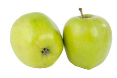Green apple isolated Stock Photos