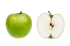 Free Green Apple Isolated Over White Royalty Free Stock Photo - 9164005