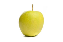 Green apple. Isolated on white. Royalty Free Stock Image