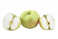 Green apple isolated on white Stock Image