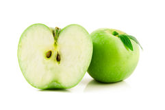 Green apple isolated on white Stock Photography