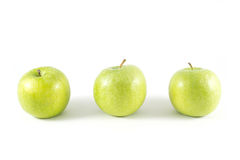 Green apple. Isolated on white background Stock Photography