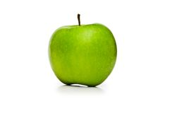Green apple isolated on the white background. Green apple isolated  on the white background Royalty Free Stock Photo