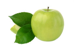 Green Apple. Isolated on a white background Stock Photo