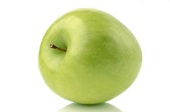 Green Apple. Isolated on a white background Royalty Free Stock Photography