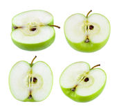 green apple isolated on white background Stock Photos